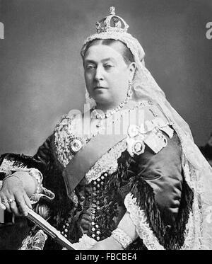 Queen Victoria. Alexander Bassano's photograph of Queen Victoria used to commemorate her Golden Jubilee in 1887 - Stock Photo
