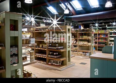 Interior of a Farm Shop - Stock Photo