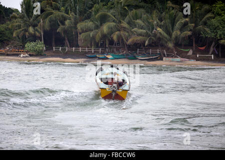 Fishermen on a beach, Arugam Bay, Sri Lanka, Asia - Stock Photo