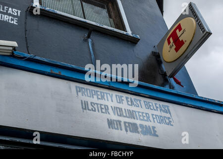 Property of East Belfast Ulster Volunteer Force on an East Belfast public house. - Stock Photo