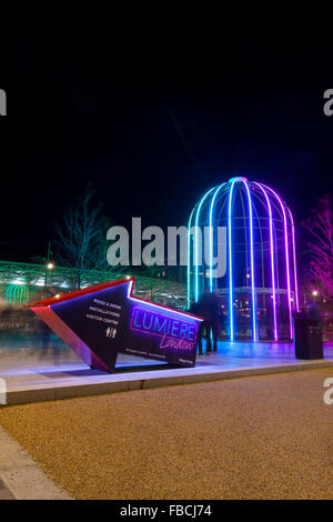 London, Uk. 14th January 2016. IFO (Identified Flying Object), an installation by Jacques Rival at Battle Bridge - Stock Photo
