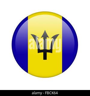 The Barbados flag - Stock Photo