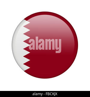 The Qatari flag - Stock Photo
