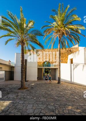 Museum Es Baluard modern art museum, Bastion de Sant Pere, Palma de Majorca, Majorca, Balearic Islands, Spain - Stock Photo
