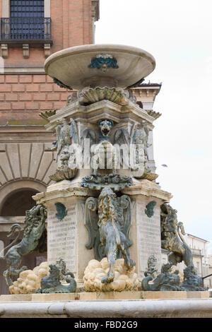 Fontana Di Piazza Della Liberta, Faenza, Italy - Stock Photo