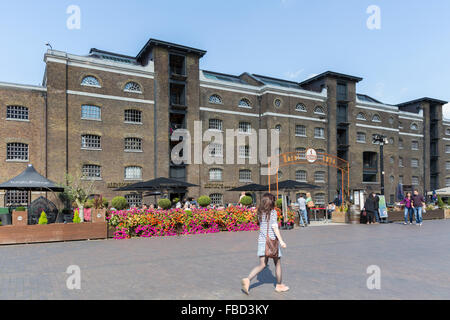 West India Quay, Canary Wharf,  London, United Kingdom - Stock Photo