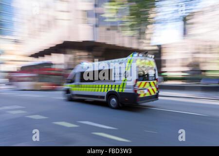 Ambulance, London, United Kingdom - Stock Photo