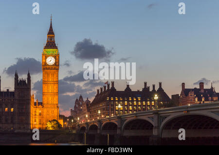 Elizabeth Tower, Big Ben, London, United Kingdom - Stock Photo