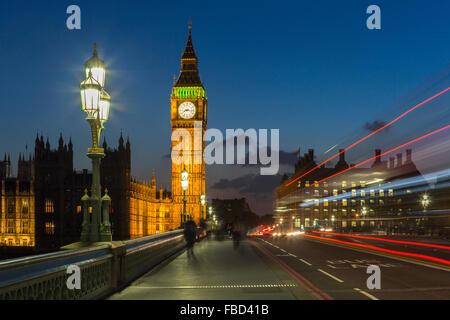 Elizabeth Tower, Big Ben, London, United Kingdom - Stock Photo