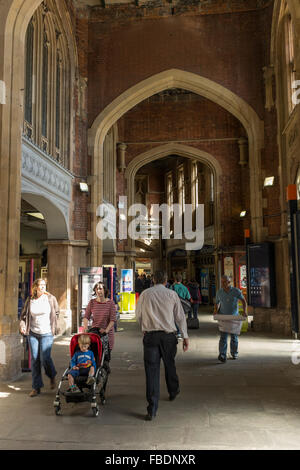 Interior of Bristol Temple Meads railway station, UK - Stock Photo