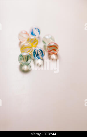 Close-Up Of Glass Marbles - Stock Photo