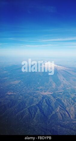 Aerial View Of Snow Covered Mount Etna - Stock Photo