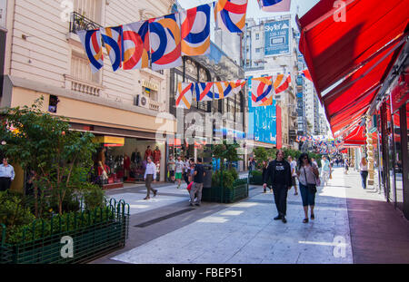 Buenos Aires Argentina Galerias Pacifico famous Mall for shopping and dining in city center walking shoppers - Stock Photo
