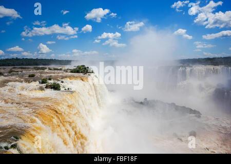 Iguassu Falls, on the border of Argentina and Brazil.