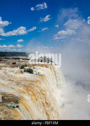 Iguacu Falls, on the border of Argentina and Brazil. - Stock Photo