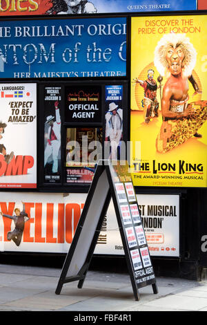Leicester Square Box Office London England - Stock Photo