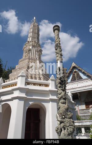 Ornately decorated prang, Wat Ratchanatdaram temple complex, Bangkok, Thailand, Asia. - Stock Photo