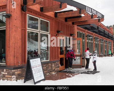 Red Pine Lodge, Canyons side of the Park City Ski Resort, Utah. - Stock Photo