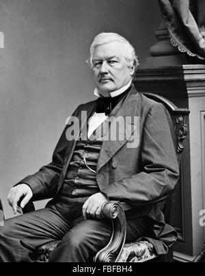 Millard Fillmore, portrait of the 13th US President, from the Brady-Handy Collection, c 1855-65 - Stock Photo