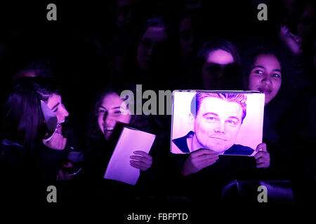 Rome, Italy. 15th Jan, 2016. Fans, Casa del Cinema. Redivivo Anteprima. Revenant Red Carpet Premiere. Credit:  Insidefoto/Alamy - Stock Photo