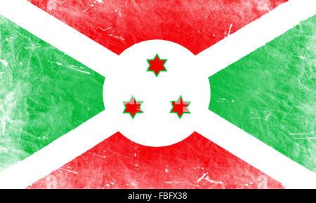 The Burundi flag - Stock Photo
