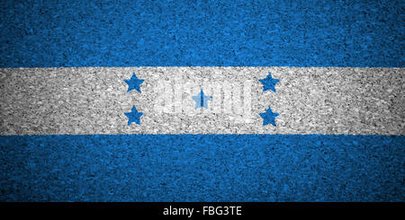 The Honduran flag - Stock Photo
