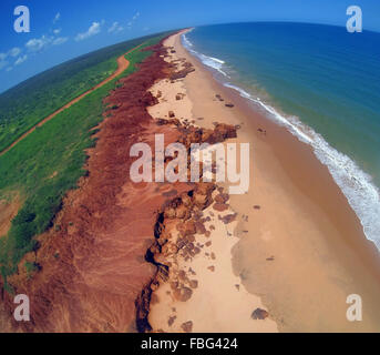 Aerial view of James Price Point, Dampier Peninsula, near Broome, Kimberley region, Western Australia - Stock Photo