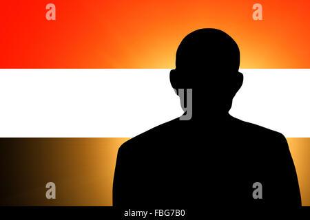 The Yemeni flag - Stock Photo