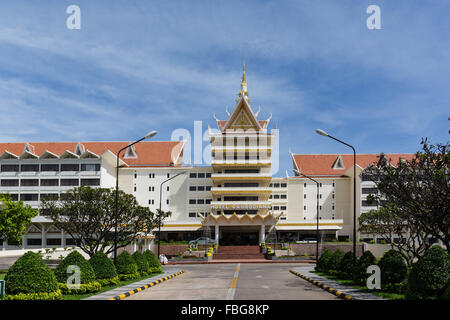 Cambodiana Hotel, Preah Sisowath Quay, Phnom Penh, Cambodia - Stock Photo
