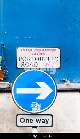 portobello road, royal bourough of kensington and chelsea, portobello road, notting hill, london, england - Stock Photo