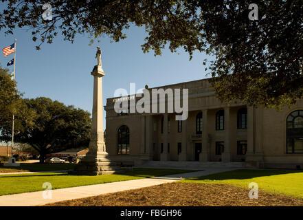 Lee County Courthouse Bishopville South Carolina USA - Stock Photo
