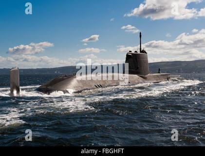 Royal Navy submarine HMS Astute - Stock Photo