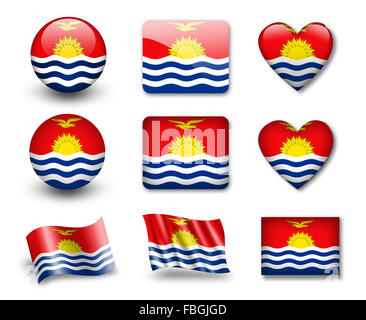The Kiribati flag - Stock Photo