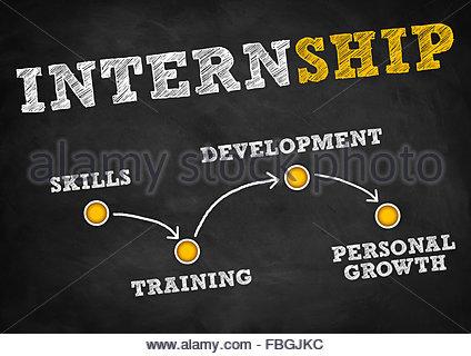 Internship - strategy concept - Stock Photo