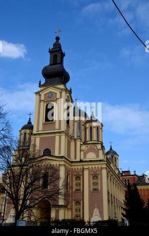 Serbian Orthodox Cathedral Church of the Nativity of the Theotokos Sarajevo Bosnia Hercegovina - Stock Photo