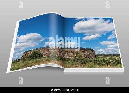 Slavic fort Raddusch is a faithful reproduction of a Slavic refuge fort near Vetschau/Spreewald, Brandenburg, Germany, - Stock Photo