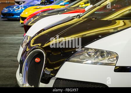 Bugatti Veyron Car On Display Berlin Germany Europe Stock