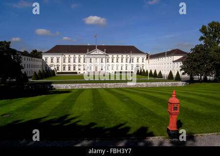 Bellevue Palace, residence of the President of Germany, in Berlin's Tiergarten district. - Stock Photo