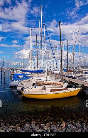Marina in Heiligenhafen, the Baltic Sea - Stock Photo