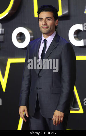 Star Wars: The Force Awakens - UK film premiere  Featuring: Oscar Isaac Where: London, United Kingdom When: 16 Dec - Stock Photo
