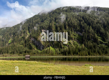 Small lake in the Seebachtal, Hohe Tauern - Stock Photo