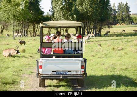 Safari jeep, Animal World Game Park, Emerald Resort & Casino, Vanderbijlpark, Emfuleni Municipality, Gauteng, South Africa Stock Photo