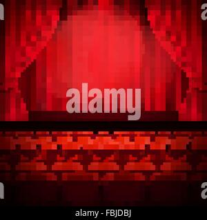 Red curtain template. EPS 10 - Stock Photo