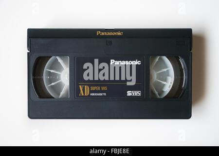 panasonic VHS cassette tape - Stock Photo