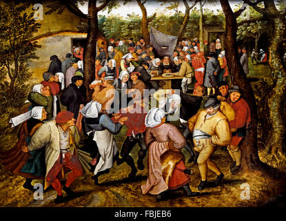 Wedding Dance In The Open Air 1614 PIETER BRUEGHEL THE YOUNGER 1616 1647 Flemish Belgian
