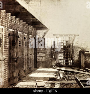 Slave pen used to house human slaves awaiting auction by Price Birch & Company (previously Franklin and Armfield), - Stock Photo