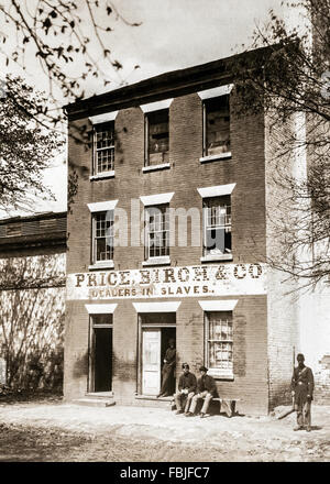 Price Birch & Company (previously Franklin and Armfield), the largest slave dealers in the antebellum south situated - Stock Photo