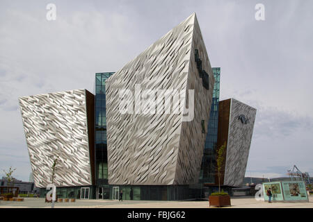The Titanic visitor centre in Belfast - Stock Photo