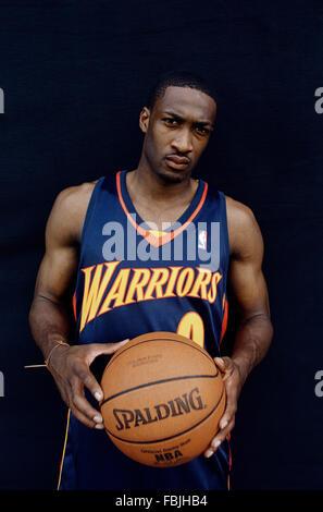 LOS ANGELES, CA – JUNE 12: NBA basketball player Gilbert Arenas in Los Angeles, California on June 12, 2003. - Stock Photo