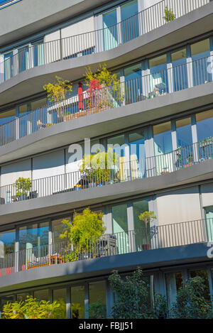 Facade of a modern building in Berlin, Germany - Stock Photo